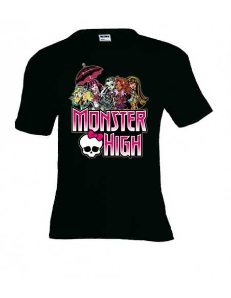 "Camiseta Monster High manga corta negra infantil ""Logo"""