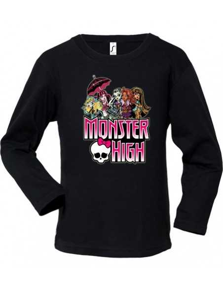 "Camiseta Monster High manga Larga negra ""Logo"""
