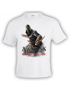 Camiseta Assassin´s Creed Revelations blanca manga corta