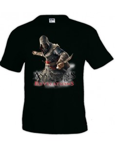 Camiseta Assassin´s Creed Revelations negra manga corta