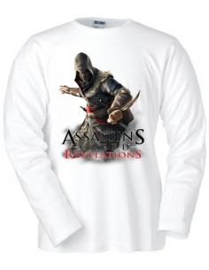 Camiseta Assassin´s Creed Revelations blanca manga larga