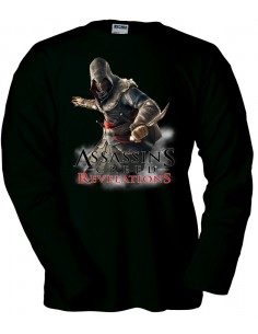 Camiseta Assassin´s Creed Revelations negra manga larga