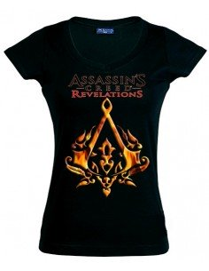 Camiseta de chica Assassin´s Creed Revelations Ottoman negra manga corta