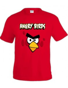 Camiseta Angry Birds red manga corta