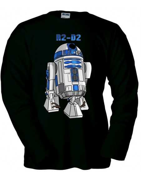 Camiseta Star Wars R2-D2 Negra manga larga