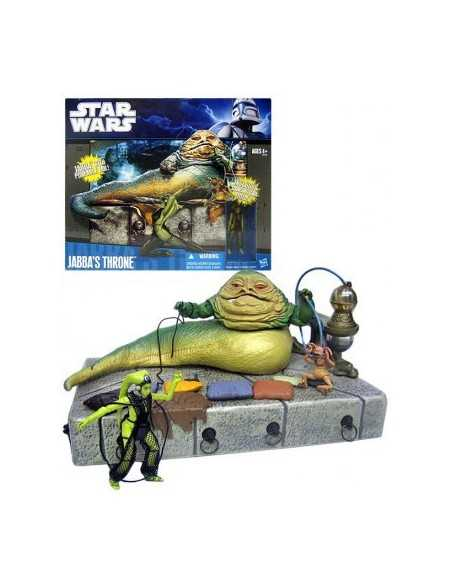 Star Wars Clone Wars Pack Figuras Jabba´s Throne 10 cm