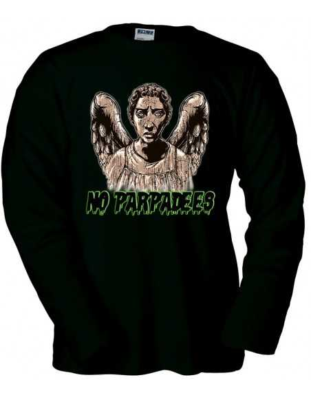 "Camiseta Doctor Who ""No Parpadees"" Negra Manga Larga"