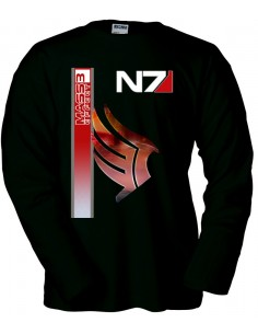 Camiseta Mass effect 3 N7 Paragon manga larga