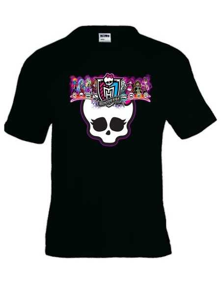 Camiseta Monster High -scull- manga corta