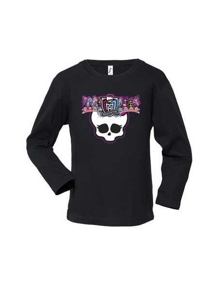 Camiseta Monster High -scull- manga larga