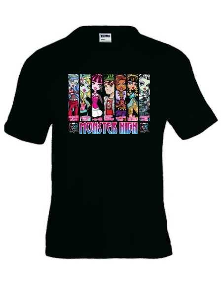"Camiseta Monster High ""vert design"" manga corta"