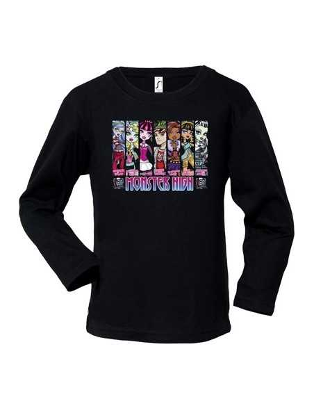 "Camiseta Monster High ""vert design"" manga larga"