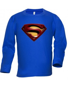 Camiseta Superman Logo 2008 manga larga