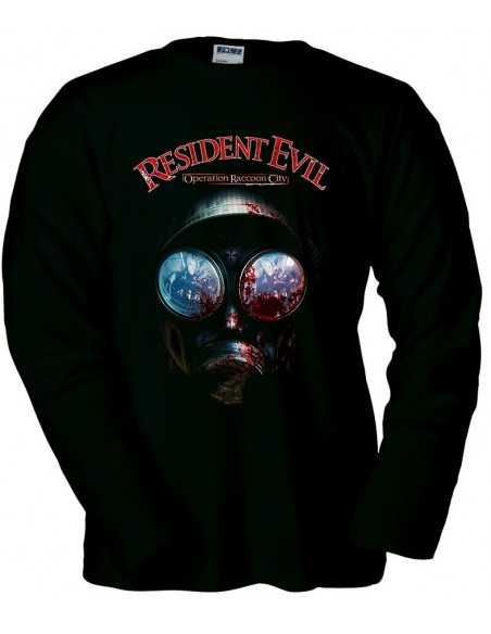 Camiseta Resident evil Raccoon City manga larga