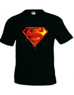 Camiseta Superman logo muerte de Superman manga corta