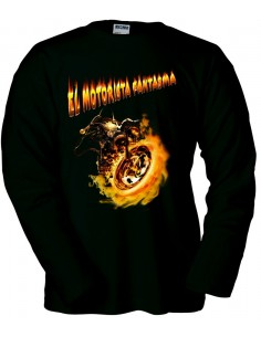 Camiseta Ghost Rider Motorista Fantasma manga larga