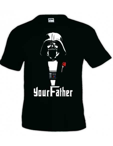Camiseta Darth Vader Your Father manga corta