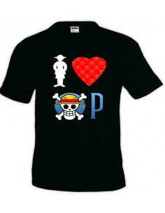 Camiseta I love One Piece manga corta