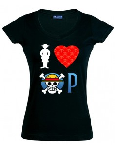 Camiseta I love One Piece manga corta Chica