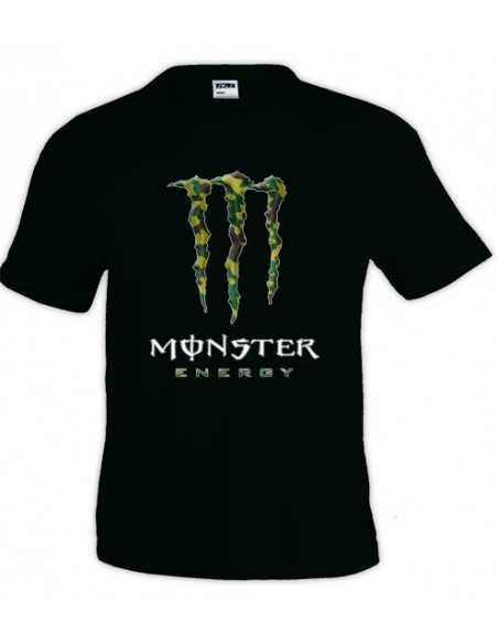 Camiseta Monster Energy - camuflaje