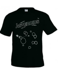 Camiseta video juego retro -Asteroids- manga corta unisex
