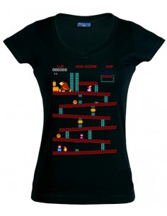 Camiseta Donkey kong recreativa ,manga corta de chica