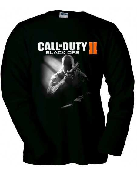 Camiseta Call Of Duty Black Ops 2 Prestigio manga larga negra