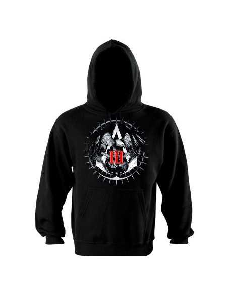 Sudadera Assassin´s Creed 3 Join or Die -color negro con capucha