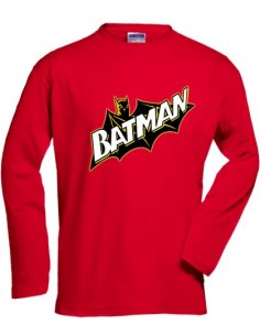 Camiseta manga larga Batman retro -Cape custom- roja