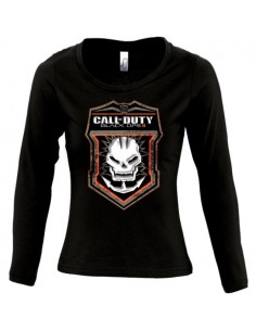 Camiseta manga larga de chica Call Of Duty Black Ops 2 Skull