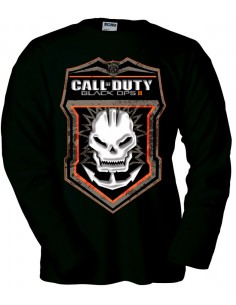 Camiseta Call Of Duty Black Ops II -Skull- manga larga negra
