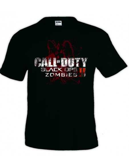 Camiseta Call Of Duty Black Ops II zombies manga corta