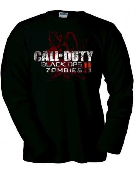Camiseta Call Of Duty Black Ops 2 zombies manga larga