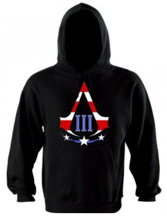 Sudadera Assassins creed 3 -American logo- con capucha
