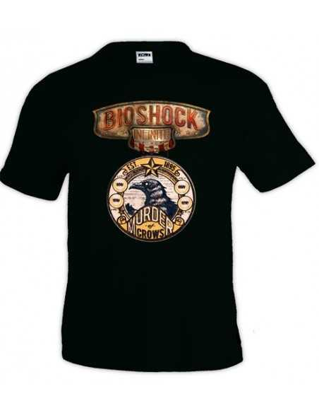 "Camiseta Bioshock infinite diseño ""Crows-medal"""