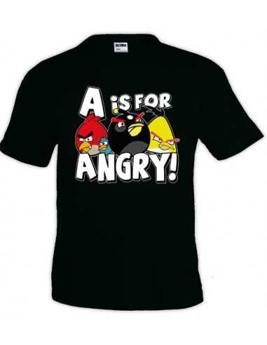Camiseta Angry Birds -A is for angry- en mxgames