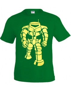 Camiseta Sheldon Manbot -Big Bang Theory- verde