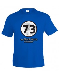 "Camiseta Sheldon 73 ""the Chuck Norris of Numbers"""