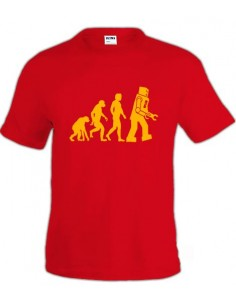 Camiseta del Dr. Sheldon Cooper -Robot Evolution-