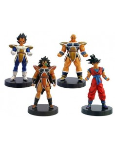 Pack de 4 Figuras de dragon Ball Z Gashapon Guerreros de Espacio