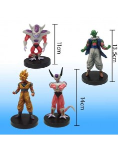 Pack de 4 Figuras de dragon Ball Z Gashapon - Freezer y Rey Cold