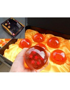 7 Bolas de Dragon Ball Z de 7,8 cms
