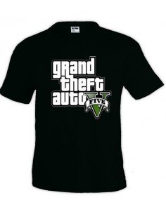 Camiseta Grand Theft Auto 5 - logo gta - manga corta