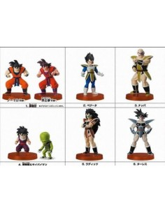 Figuras Dragon Ball 8 piezas con pedestal - Gashapon mx games.es