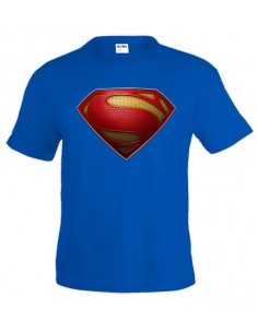 Camiseta Superman man of steel logo 2013 custom-classic de hombre