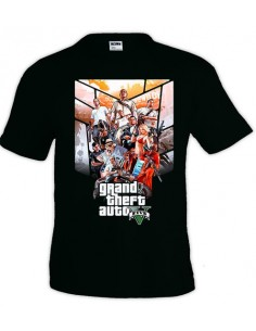 Camiseta Grand Theft Auto 5 - custom poster 1 -