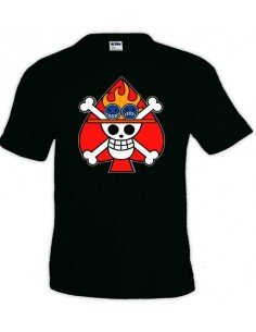 Camiseta One Piece bandera Ace - manga corta