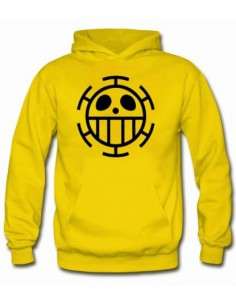 Sudadera capucha - One Piece Trafalgar color Amarillo