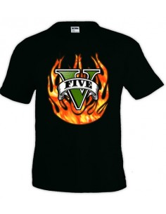 Camiseta Grand Theft Auto 5 - Fuego