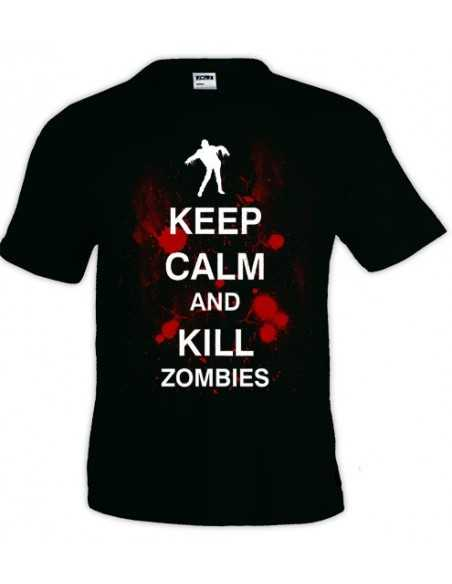 Camiseta Keep Calm and Kill Zombies manga corta - Mx Games